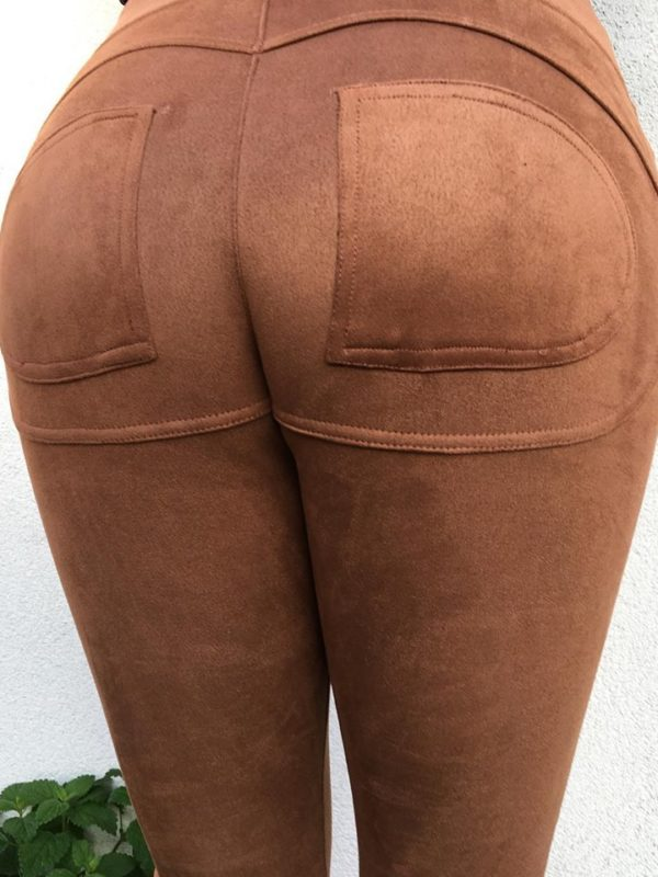 Push-Up Suede Leggings Black, Camel, Burgundy