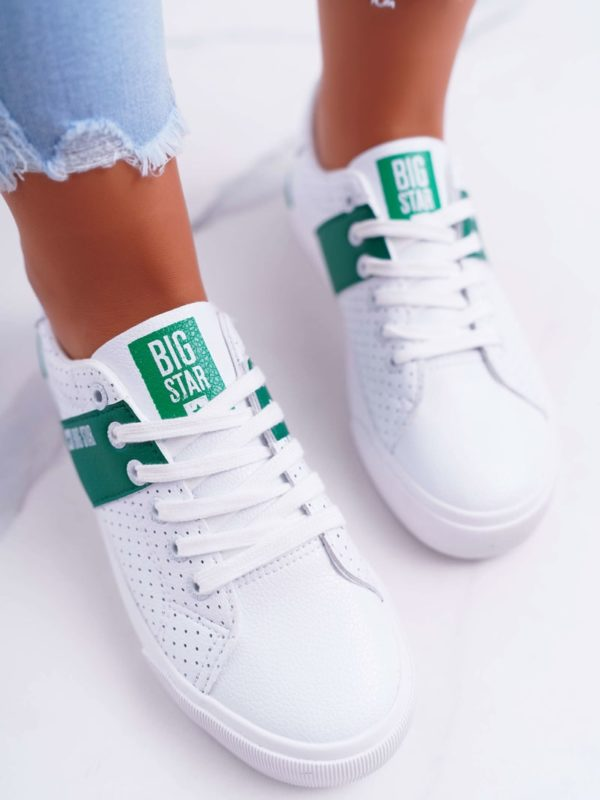Big Star White Sneakers - Green