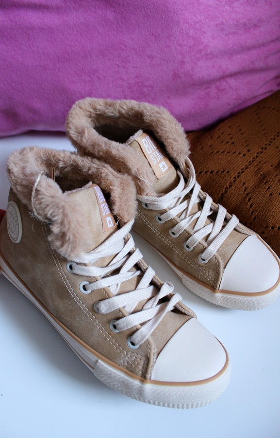 Trainers with Faux Fur