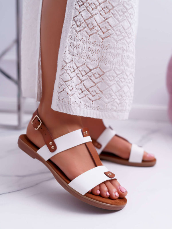 White&Brown Sandals