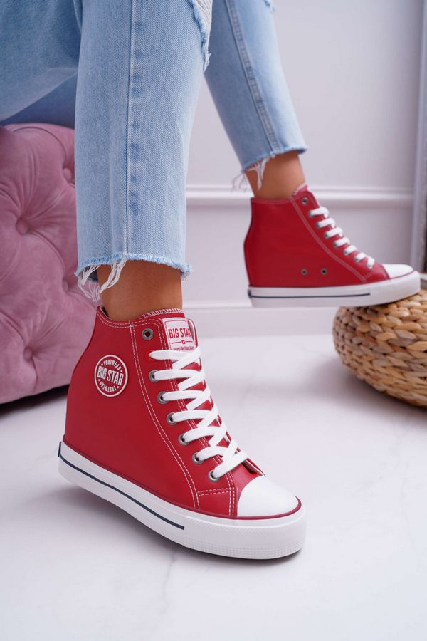 Big Star Wedges Trainer - Red/White/Navy