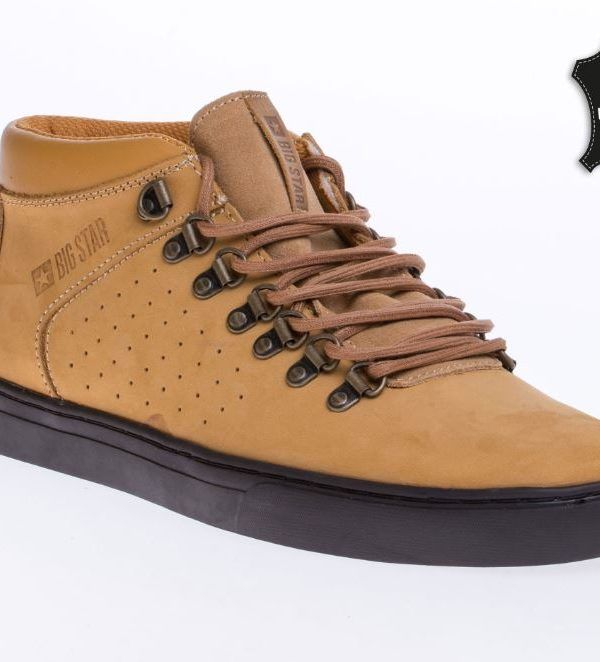 Big Star Man Real Leather Trainers